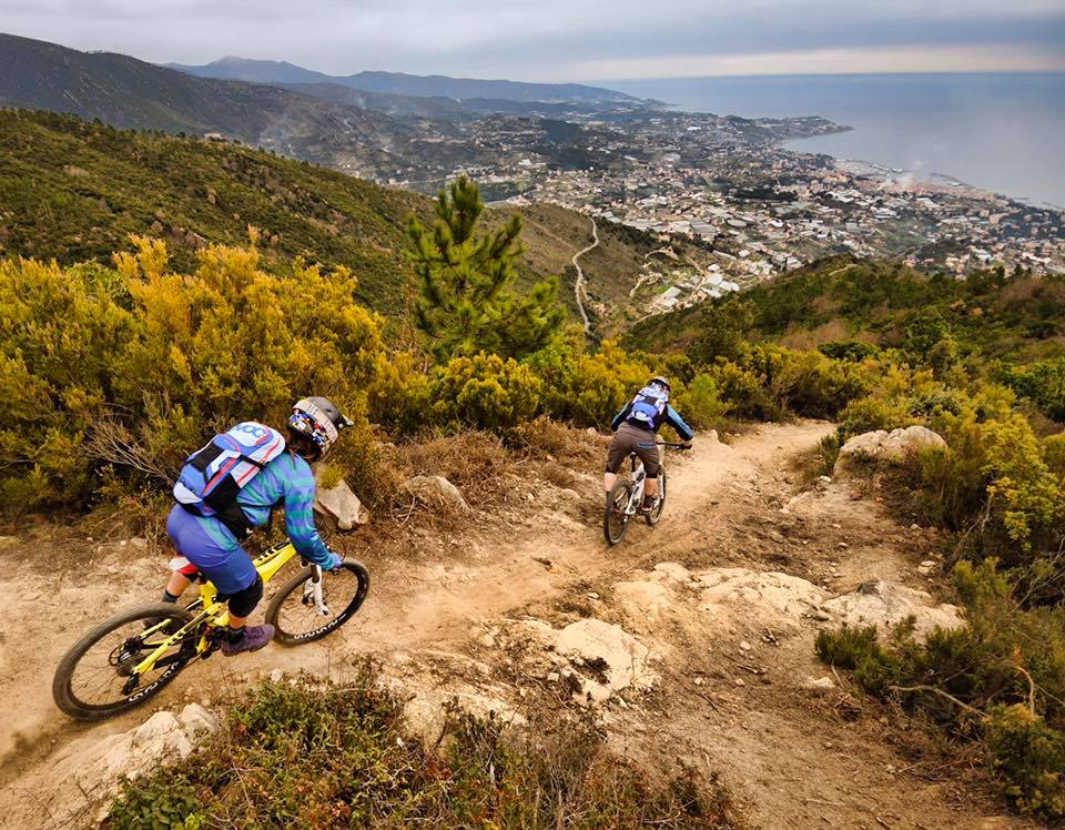 pedalare d'inverno in mountain bike con Valentina Macheda e Manuel Ducci