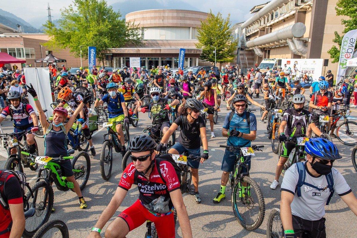 Partenza Valtellina e-bike Festival 2020 Ride