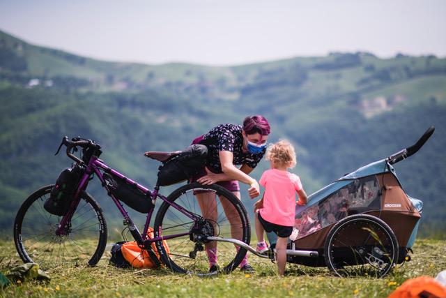 mamma in bicicletta partecipa al BAM!